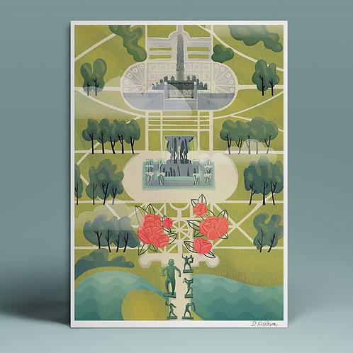 Frogner Park Poster 22x31 cm