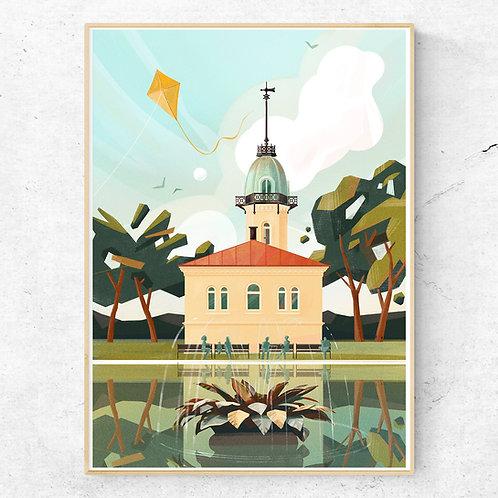 St. Hanshaugen Poster 50x70 cm