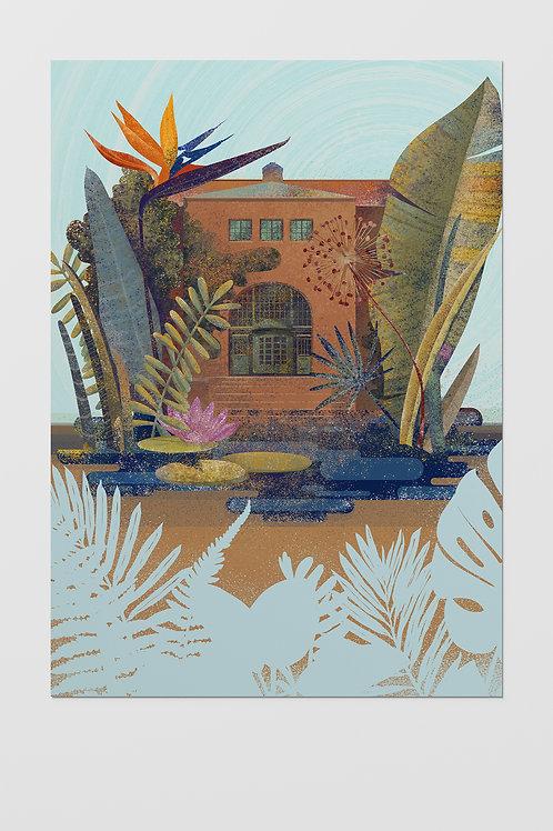 Oslo Botanical Garden Poster A3