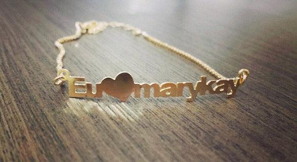 Pulseira nome + coração