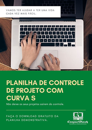 Planilha de Controle de Projeto com Curva S V2.000