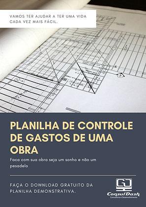 Planilha de Controle de Gastos de uma Obra V1.001