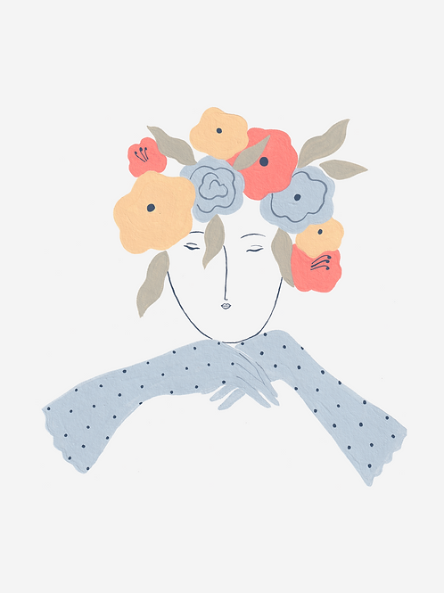 Floral head lady