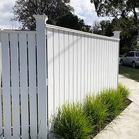 White-picket-fence-finished-and-painted.