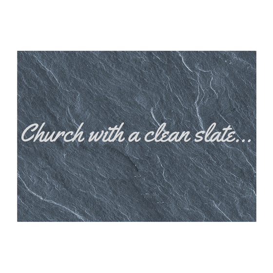 Church with a Clean Slate