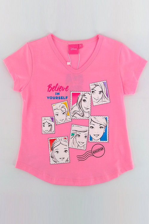 DP-4209-08 Disney Princess V-Neck Graphic Tee
