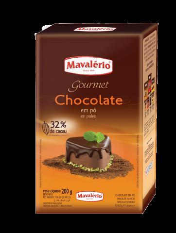 Chocolate em pó 32% Cacau Mavalério 200g