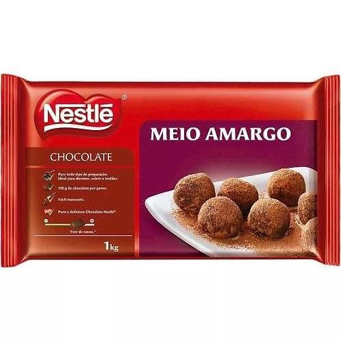 Chocolate Nestlé Meio Amargo em barra 1kg