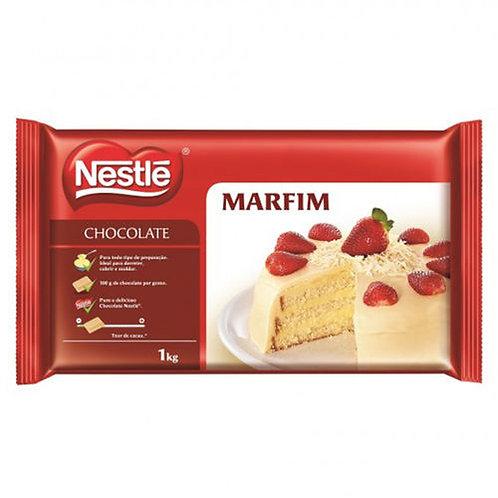 Chocolate Nestlé Marfim em barra 1kg