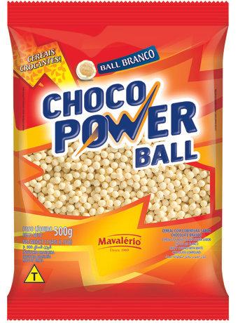 Choco Power Ball Mavalério Sabor Chocolate Branco 500g