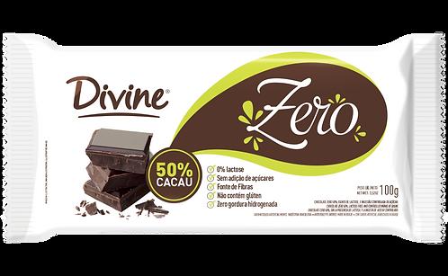 Chocolate 50% Cacau Divine zero açúcar, zero lactose e zero glúten 100g