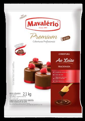 Cobertura Fracionada em Gotas Mavalério Premiun Ao Leite 2,1kg