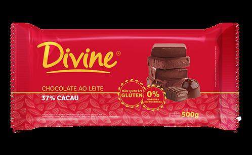 Chocolate Divine Ao Leite em barra 500g