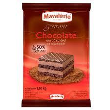 Chocolate em Pó 50% Cacau Mavalério 1kg