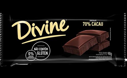 Chocolate Amargo 70% Cacau Divine 90g