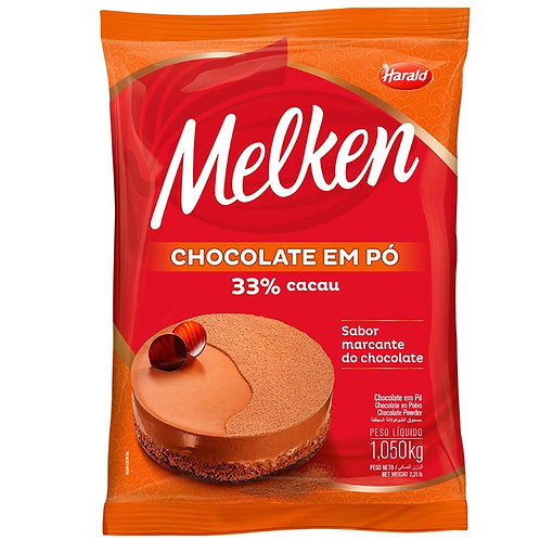 Chocolate em Pó 33% Cacau Melken Harald 1kg
