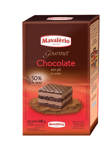 Chocolate em Pó 50% Cacau Mavalério 200g