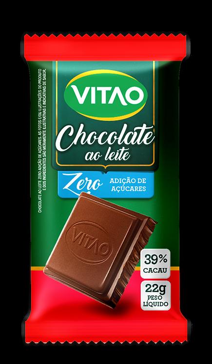 Chocolate Ao Leite Zero Açúcar Vitao 22g