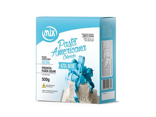 Pasta Americana Azul Bebê Mix 500g
