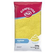 Confeito Açúcar Colorido Mix Amarelo 500g