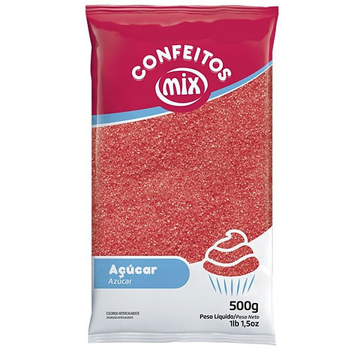 Açúcar Cristal Mix  Vermelho 500g