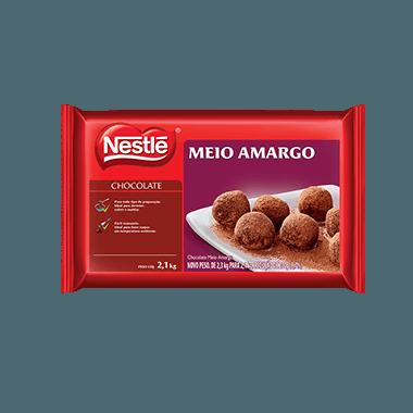 Chocolate Nestlé Meio Amargo em barra 2,1kg