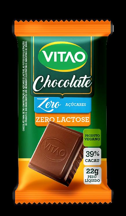Chocolate Vegano Ao Leite 39% Cacau Zero Lactose Vitao 22g