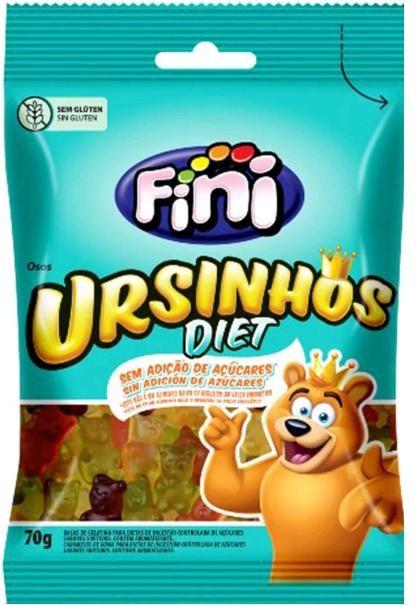 Bala Ursinhos Diet  Zero Açúcar Fini 70g