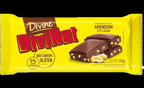 Chocolate Ao Leite Com Amendoim Divinut Divine 90g