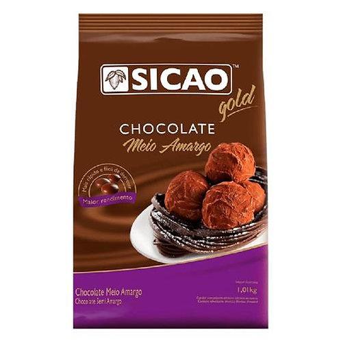 Chocolate Sicao Gold Meio Amargo Gotas 1kg