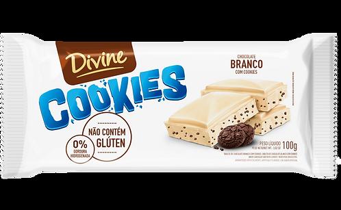Chocolate Branco com Cookies Divine 90g