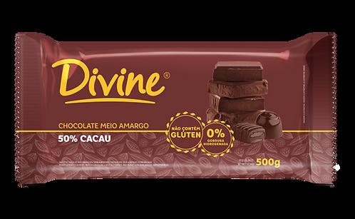 Chocolate Divine Meio Amargo em barra 500g