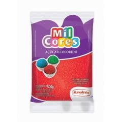 Açúcar Colorido Mil Cores Mavalério Vermelho 500g
