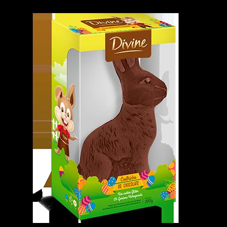 Coelho de Chocolate Ao Leite Divine 200g