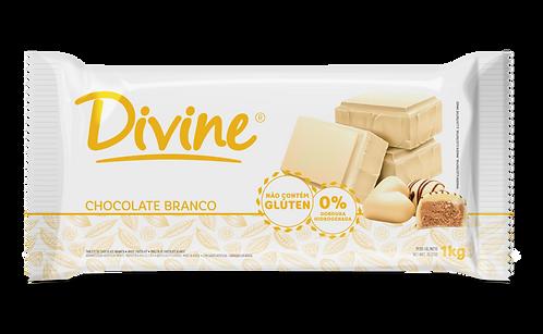 Chocolate Divine Branco em barra 1kg