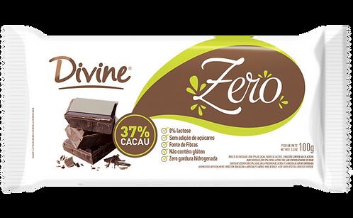 Chocolate 37% Cacau Divine zero açúcar, zero lactose e zero glúten 100g