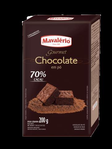 Chocolate em Pó 70% Cacau Mavalério  200g