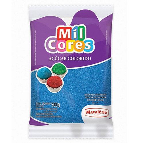 Açúcar Colorido Mil Cores Mavalério Azul 500g