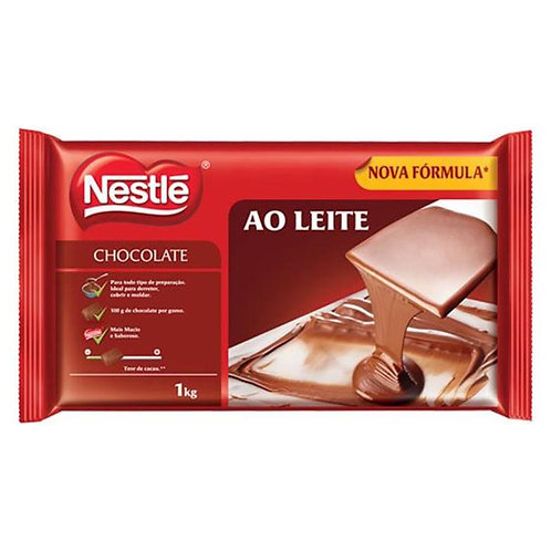 Chocolate Nestlé Ao Leite em barra 1kg
