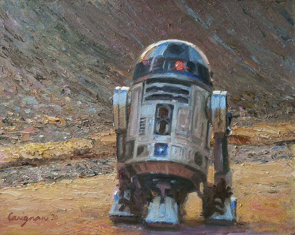 R2D2 on a Mission to Find Obi-Wan Kenobi (SOLD)