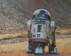 R2D2 on a Mission to Find Obi-Wan Kenobi (SOLD)
