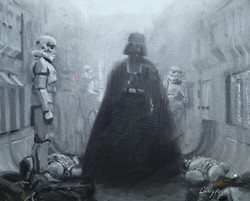 Darth Vader Emerges from the Smoke
