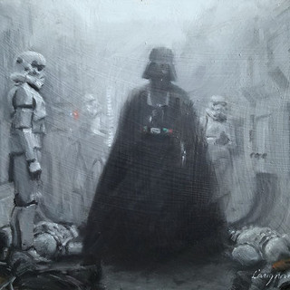Darth Vader Emerges from the Smoke (SOLD)