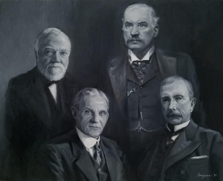 Carnegie, Morgan, Ford, Rockefeller