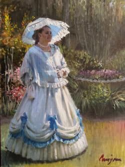 (SOLD) Kathleen in the Garden