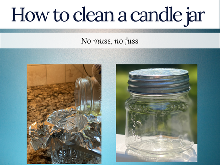 Reuse that pretty candle jar