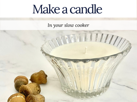 Make a candle in your crockpot