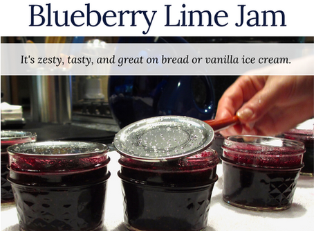 Blueberry Lime Jam - refrigerated version!