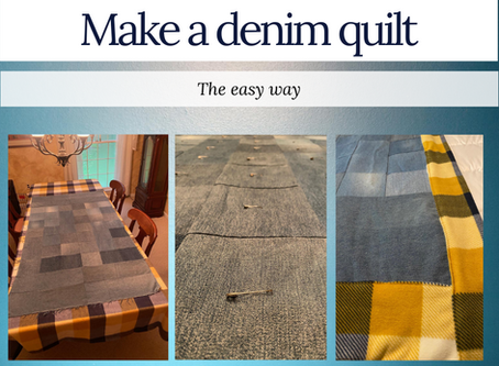 "Make a denim quilt the ""easy"" way"