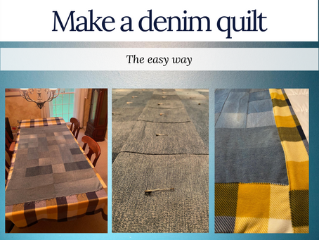 "Make a denim quilt the ""easy"" way"